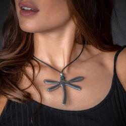 vestopazzo alluminio collana donna libellule