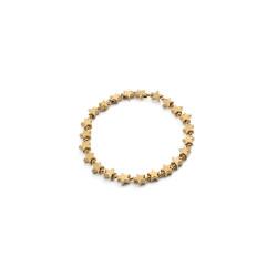 vestopazzo bracciale elastico donna stelle micro sfere placcato oro