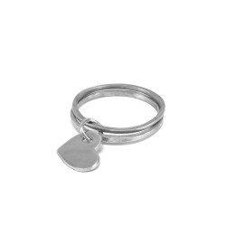 vestopazzo alluminio bracciale donna doppio bangle pendente cuore