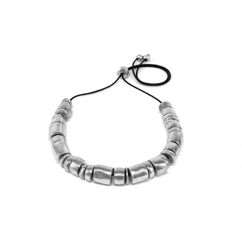 vestopazzo alluminio collana donna rondelle irregolari