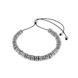 vestopazzo alluminio collana donna rondelle mix