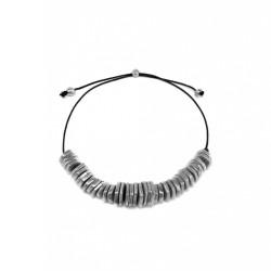 vestopazzo alluminio collana donna rondelle esagonali