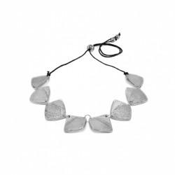 vestopazzo alluminio collana donna 8 rombi grezzi