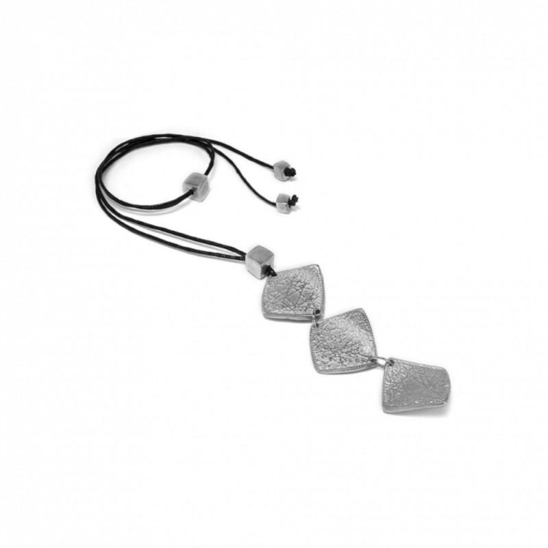 vestopazzo alluminio collana donna 3 rombi battuti