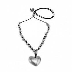 vestopazzo alluminio collana donna 26 sfere e cuore grande