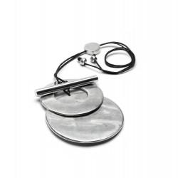 vestopazzo alluminio collana donna 2 tondi con barra