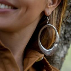 vestopazzo alluminio orecchini donna goccia irregolare forata