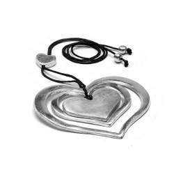 vestopazzo alluminio collana donna 3 cuori concentrici
