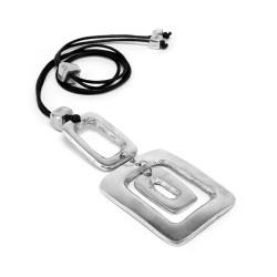 vestopazzo alluminio collana donna 3 rectangles a/trou