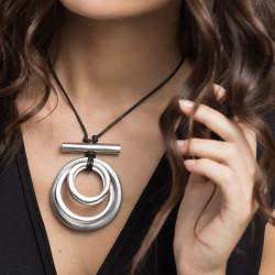 vestopazzo alluminio collana donna 4 rondes + barettes foto