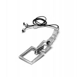 vestopazzo alluminio collana donna 6 cubi + rectangle