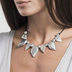 vestopazzo alluminio collana donna 7 goutte pointu et boule foto