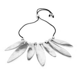 vestopazzo alluminio collana donna 7 ovale allonge tordue