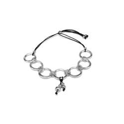 vestopazzo alluminio collana donna 7 ronde a frange