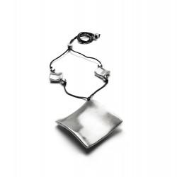 vestopazzo alluminio collana donna carre double plie