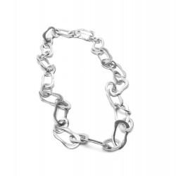 vestopazzo alluminio collana donna chaine ovale irregulier