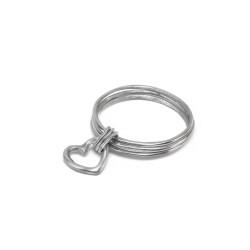 vestopazzo alluminio bracciale donna 3 ronde fine et coeur a/trou