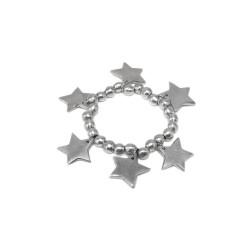vestopazzo alluminio bracciale elastico donna boules a 6 etoiles