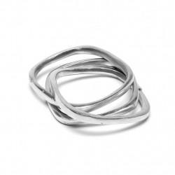 vestopazzo alluminio bracciale donna 1 cm carre chaine carre