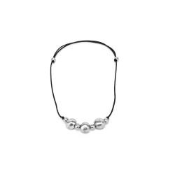 vestopazzo alluminio collana donna boule colore nero