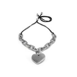 vestopazzo alluminio collana donna chaine ovale court a coeur