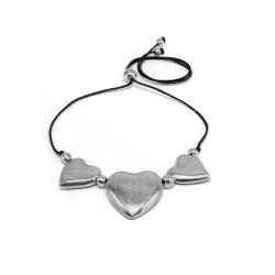 vestopazzo alluminio collana donna 3 coeur bombes courts