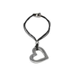 vestopazzo alluminio collana donna coeur 6 fils fin corde filo colore nero