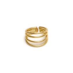 vestopazzo ottone anello regolabile donna 4 linee