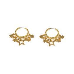 vestopazzo ottone orecchini donna mini cerchi stelle