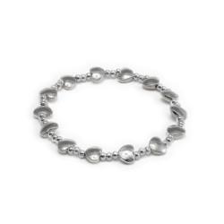 vestopazzo placcato argento bracciale elastico donna multi cuori bombati