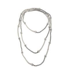 vestopazzo placcato argento collana lunga donna sfere