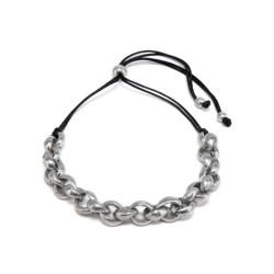vestopazzo alluminio collana donna chaine ronde serre' court