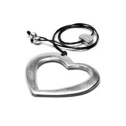vestopazzo alluminio collana donna cuore vuoto