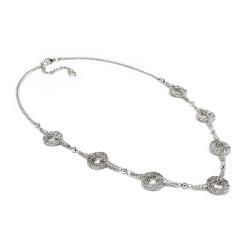 vestopazzo collana placcato argento donna anelli microfilo