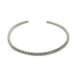 vestopazzo girocollo placcato argento donna intrecciato