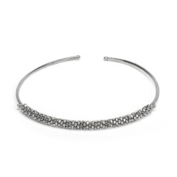 vestopazzo girocollo placcato argento donna micro pepite