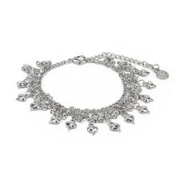vestopazzo bracciale placcato argento donna charms cuori