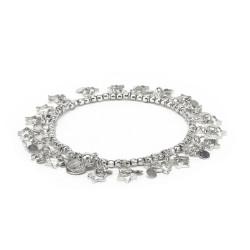 vestopazzo bracciale elastico placcato argento donna sagoma stelle