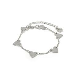 vestopazzo bracciale placcato argento donna cuori piatti