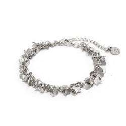 vestopazzo bracciale placcato argento donna mogra mini stelle/lune