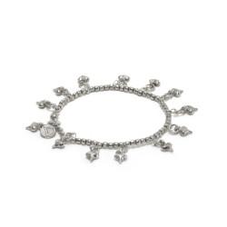 vestopazzo bracciale elastico placcato argento donna mini cuori