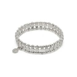 vestopazzo bracciale fascia elastica tondi placcato argento donna
