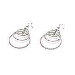 vestopazzo orecchini 3 cerchi spirale placcato argento donna
