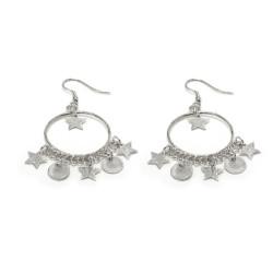 vestopazzo orecchini cerchio pendente notte placcato argento donna