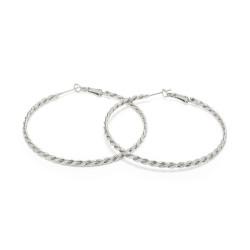 vestopazzo orecchini cerchi treccia placcato argento donna