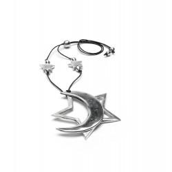 vestopazzo alluminio collana donna etoile e lune