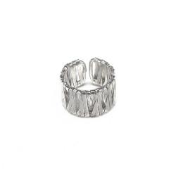 vestopazzo anello fascia nastro placcato argento donna
