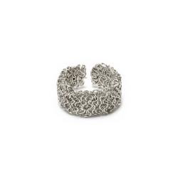 vestopazzo anello fascia micro filo placcato argento donna