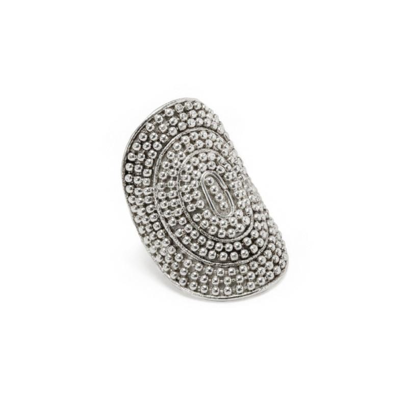 vestopazzo anello scudo placcato argento donna
