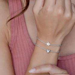 vestopazzo bracciale regolabile stella placcato argento donna